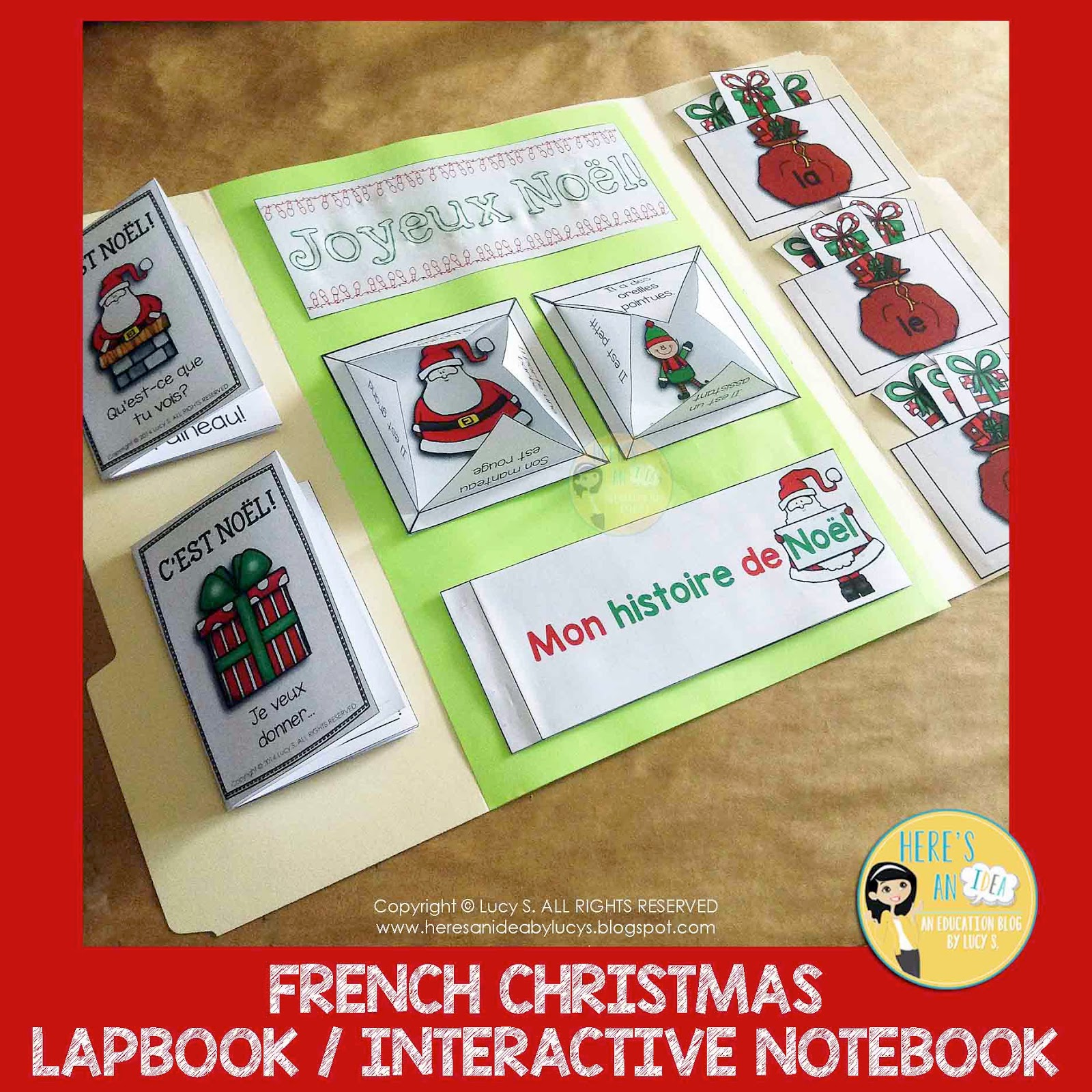 French Christmas Lapbook