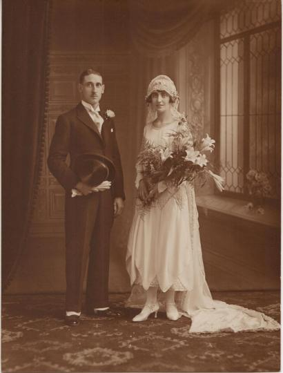 Wedding couple from England, 1925