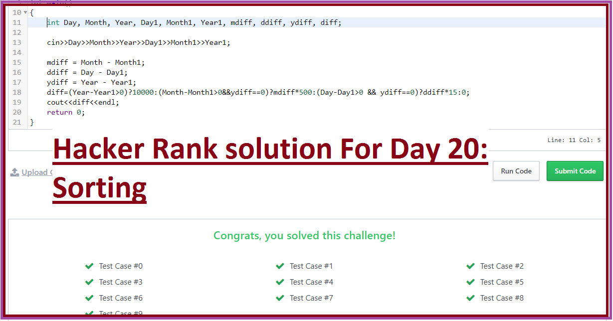 Hacker Rank solution For Day 26: Nested Logic