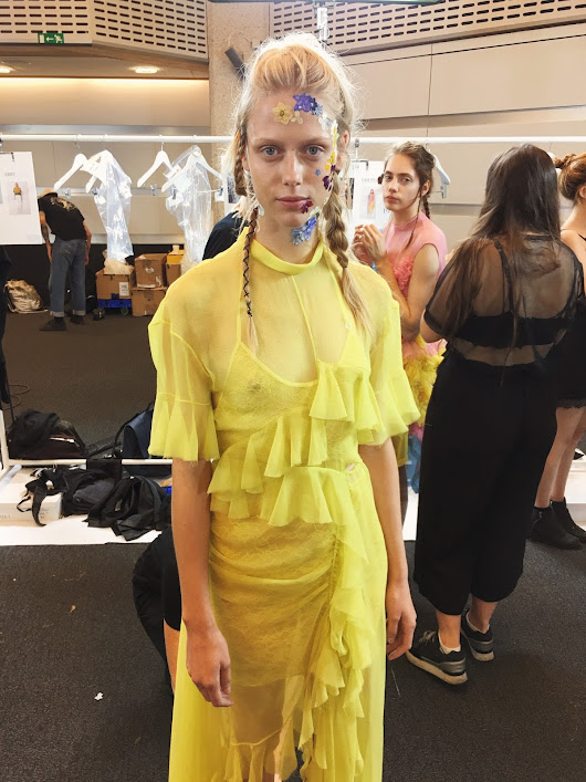 Backstage at Preen by Thornton Bregazzi