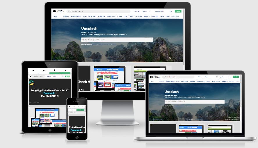 Unsplash Theme Convert To Blogspot - Template Chia Sẻ Hình Ảnh Đẹp Blogpsot