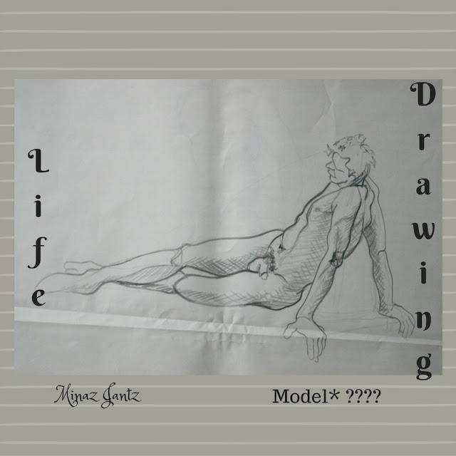 Nude Drawings by Minaz Jantz. Model ????