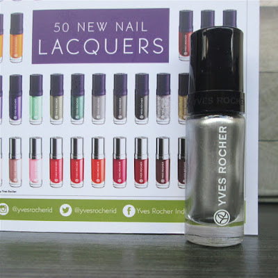 Swatch & Nail Art ft YVES ROCHER-Botanical Color Nail Polish 91-Argent Metallise