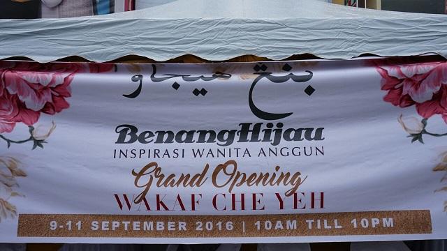Majlis Pembukaan Butik Benang Hijau Wakaf Che Yeh, Kelantan