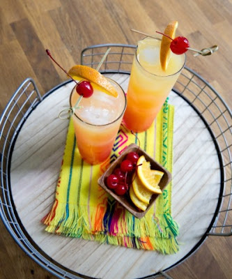 Sparkling Tequila Sunrise Cocktail Recipe