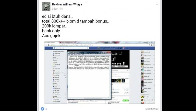 Akun Go-Jek hasil retasan dijual di FB