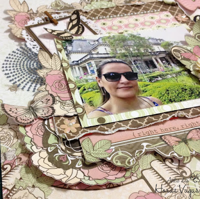 layout lo página good times scrap scrapbook scrapbooking craft paper crafts diy pap kit aula curso pretty memories bobunny primrose artesanato arte foto álbum decorado