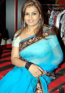 Sona-blue-transparent-saree