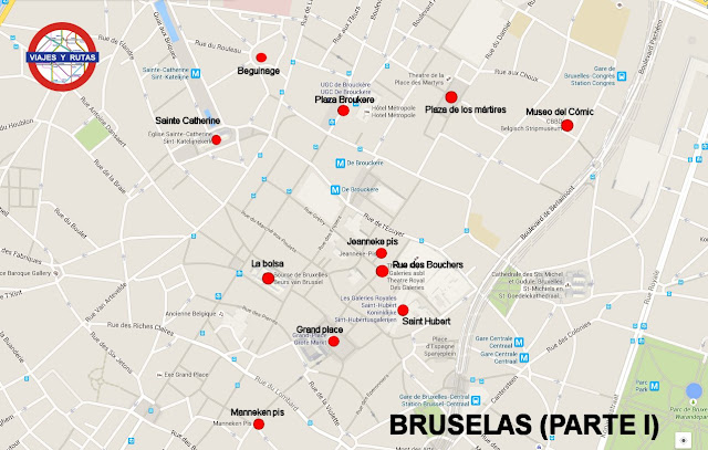 Mapa de Bruselas