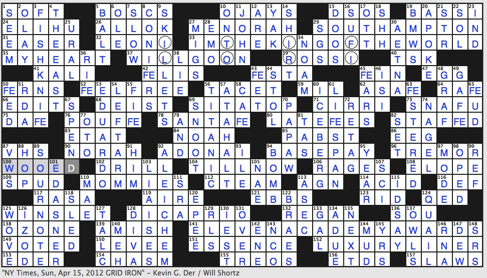 Rex Parker Does the NYT Crossword Puzzle: Wild banana ...
