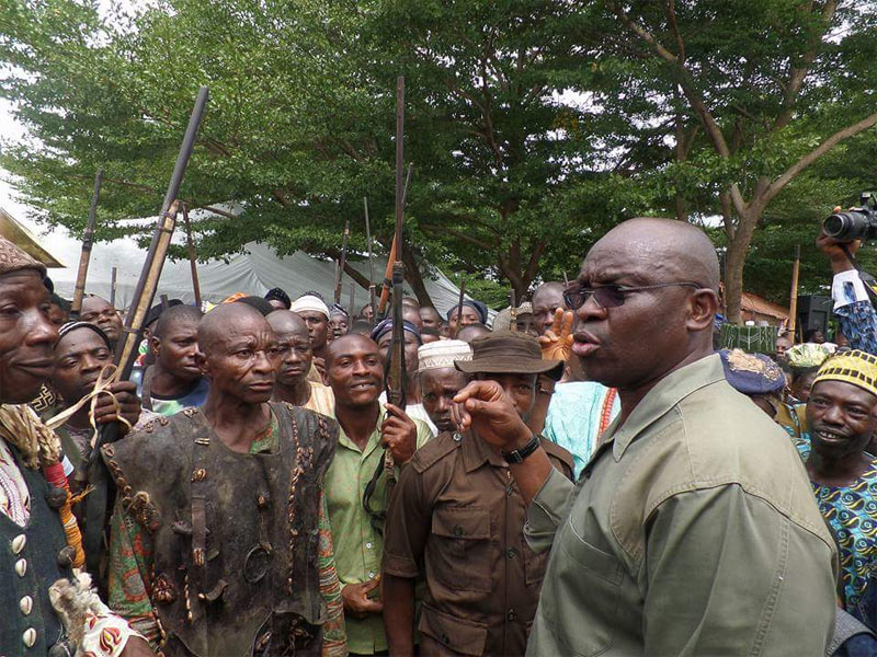 Kill any cow you see on the road - Fayose says at Ekiti Grazing Enforcement Marshall (EGEM) launch