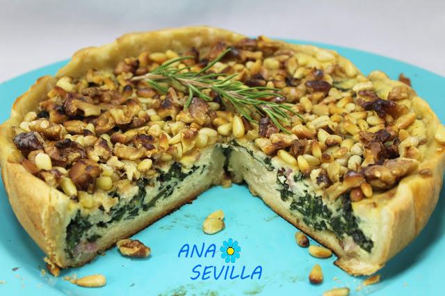 Tarta de espinacas Olla GM.Ana Sevilla