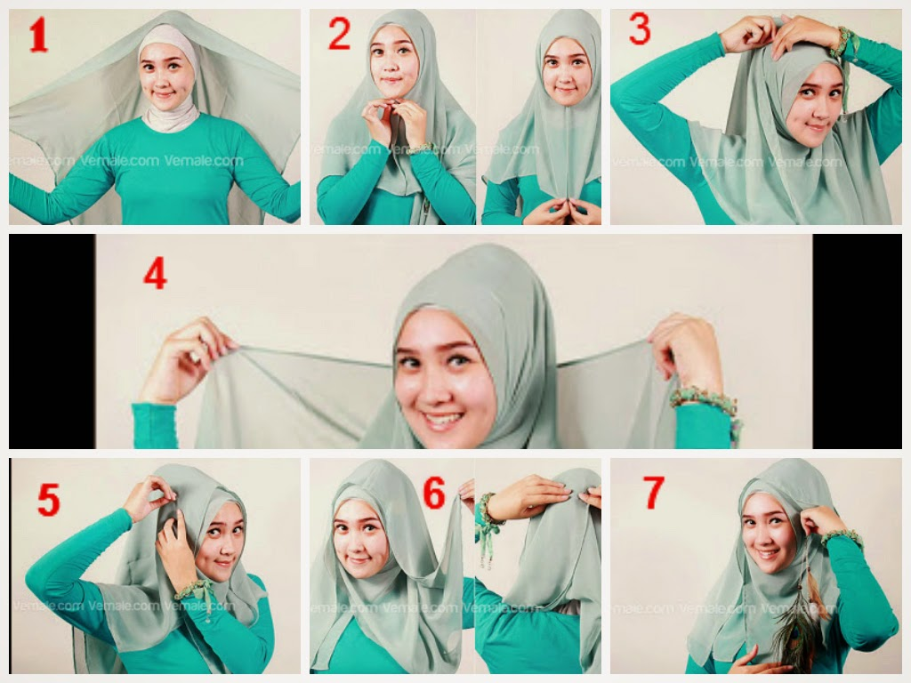 84 Gambar Menarik Tutorial Hijab Segi Empat Kekinian Tahun Ini