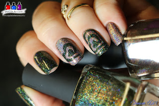 Mona Lisa, Ski Lodge, ILNP, I LOve Nail Polish, Verde Musgo, Nude, Mocha, marrom Claro, Holográfico, Ultra Holo, Holo, Holographic, Winter Collection 2015, Fall Collection 2015, Mony D07, Simone D07, Alquimia das Cores, Semana ILNP, Tema da Semana