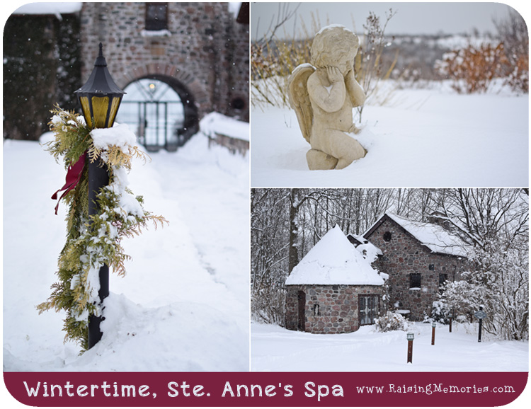Ste Annes Spa grounds during winter