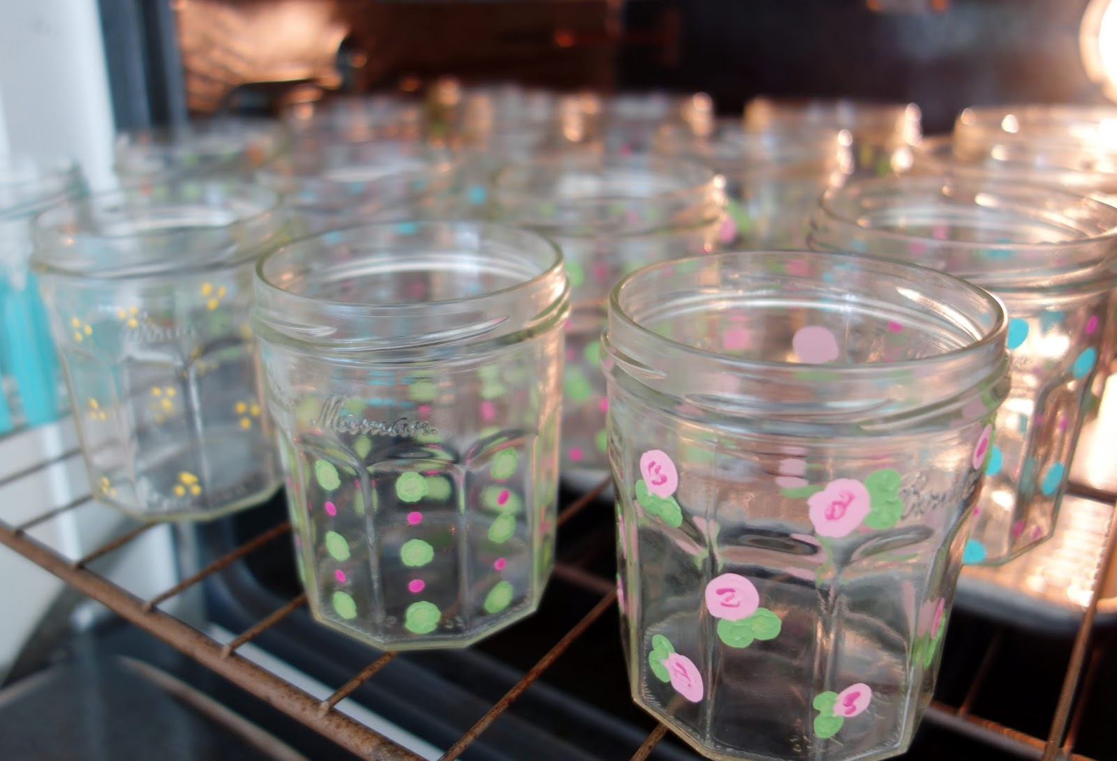 Moments Of Delight Anne Reeves Painting Jam Jars Yoga For My Inner Crafter