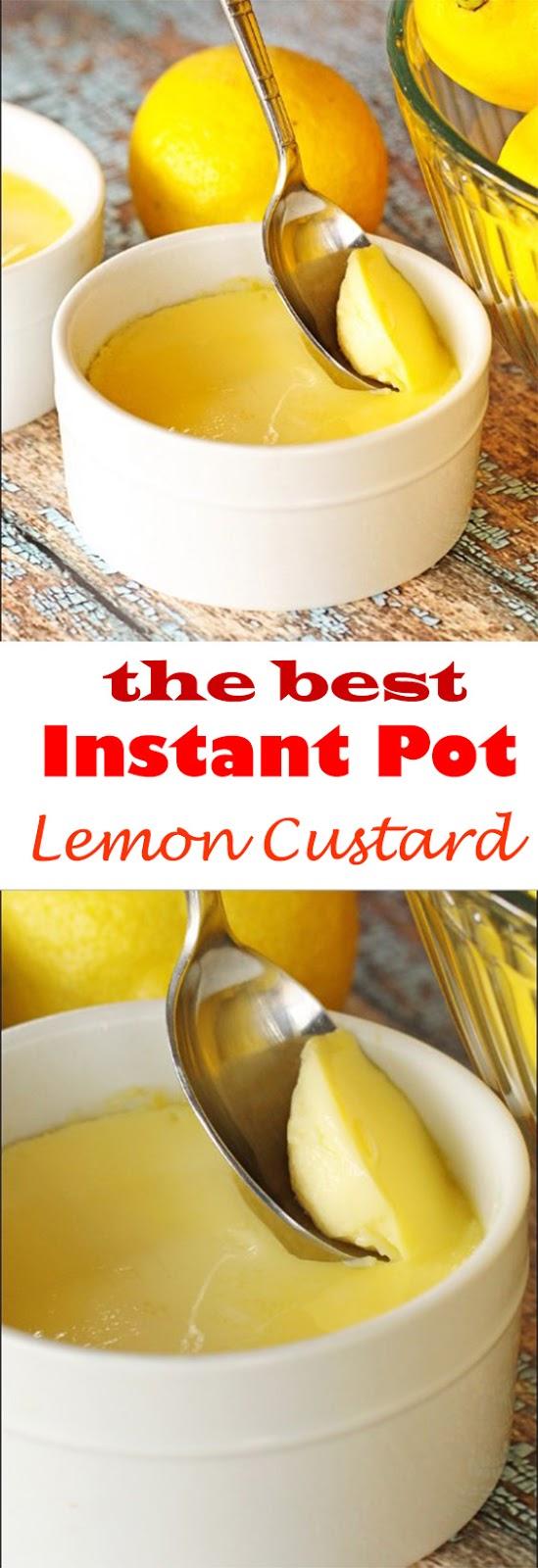 Lemon Custard in the Instant Pot