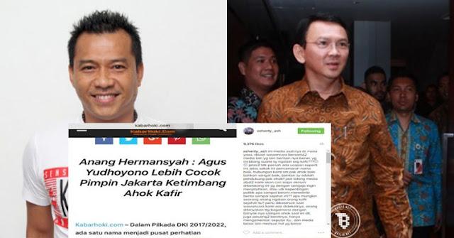 Anang Hermansyah Menghina Ahok Kafir.