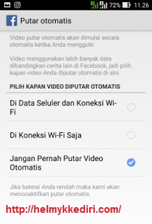 Cara Mematikan Autoplay Video diFacebook1