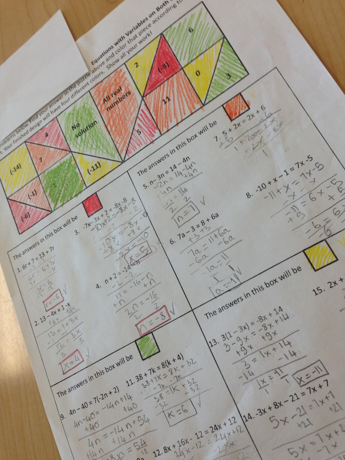 Math Dyal Solving Equations Activities Round Up