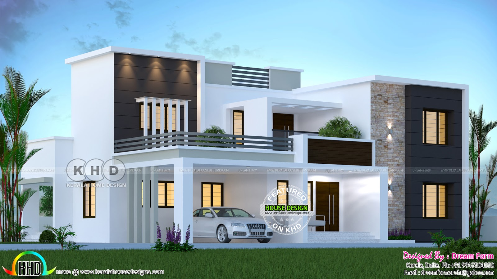 3155 Sq Ft 4 Bedroom Modern House Plan Kerala Home Design
