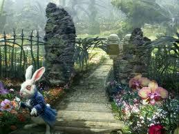 White rabbit Alice in Wonderland 2010 animatedfilmreviews.blogspot.com