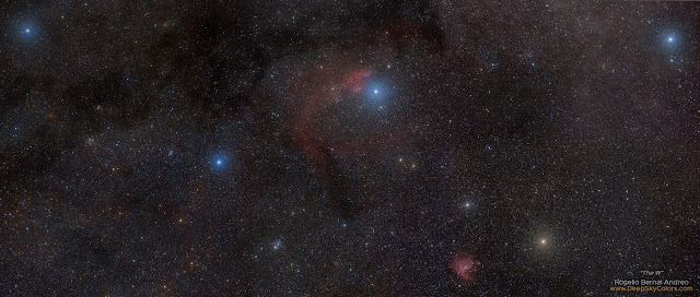 Chữ W của Hoàng hậu Cassiopeia. Tác giả : Rogelio Bernal Andreo (Deep Sky Colors).