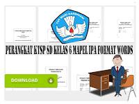 Perangkat KTSP SD Kelas 6 Mapel IPA Format Words