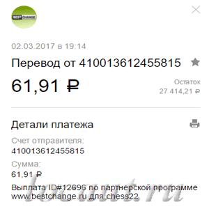 61.91 рубль
