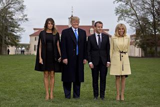 Emmanuel Macron and Brigitte Macron