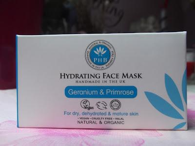 PHB hydratačná pleťová maska s gerániom a pupalkou