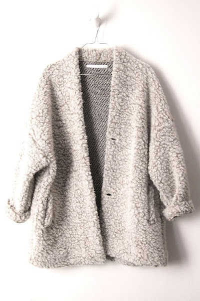 Manteau gris perle Elsa Esturgie