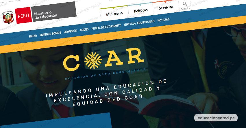 COAR ADMISIÓN 2020: Escolares que hayan ocupado los diez primeros lugares pueden postular a los Colegios de Alto Rendimiento [INFORMACIÓN OFICIAL] MINEDU - www.minedu.gob.pe