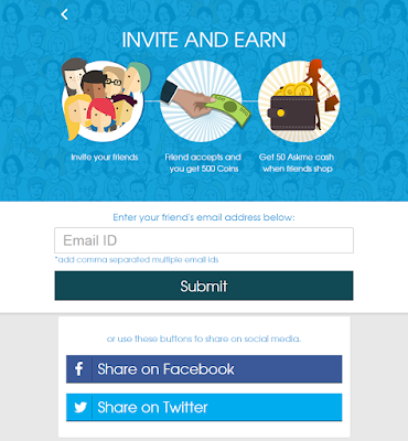 Askmebazar invite and earn