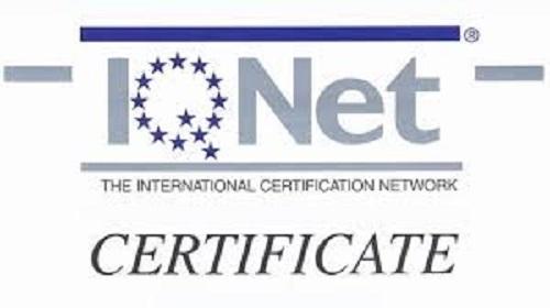 """Chứng nhận """"Quản lý chất lượng"""" do IQNet trao tặng"""