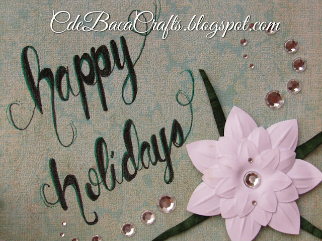 Handmade cardmaking ideas for holiday cards by CdeBaca Crafts blog.