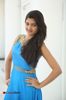 Telugu Actress Akshita (Pallavi Naidu) Latest Stills in Blue Long Dress at Inkenti Nuvve Cheppu Movie Promotions  0007.jpg