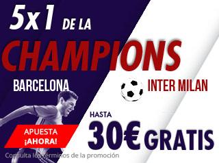 suertia promocion sin Messi Barcelona vs Inter 24 octubre