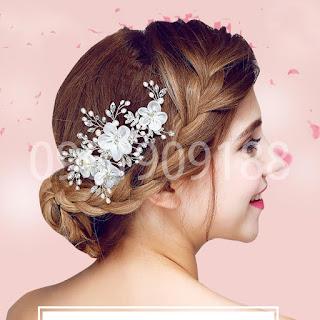 Phụ kiện cài tóc cô dâu sang trọng, quý phái