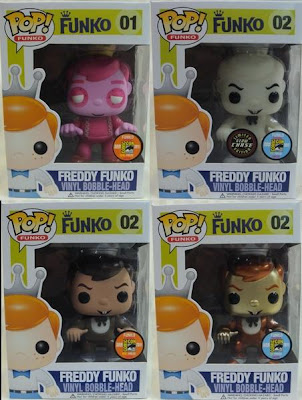 San Diego Comic-Con 2011 Exclusive Freddy Pop! Funko Vinyl Figures