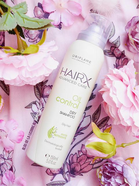 Suchý šampón na mastné vlasy HairX Advanced Care Oriflame recenzia