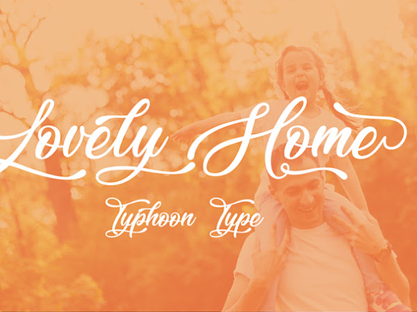 Lovely Home Calligraphy Script Font Free Download