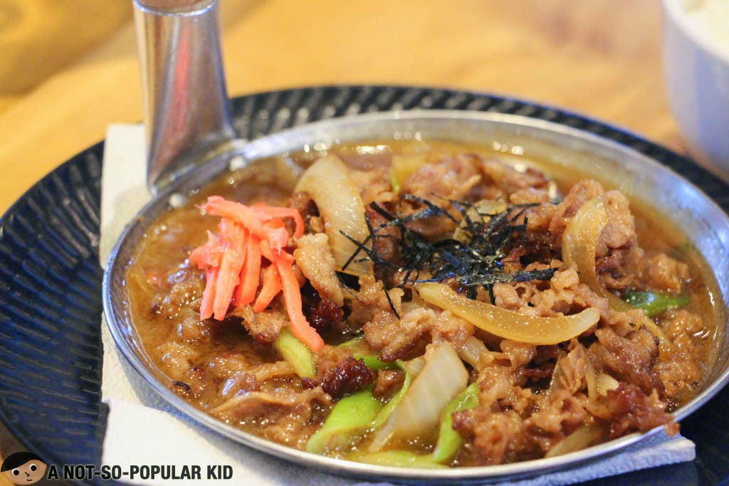 Well-presented unconventional Gyudon of Kenji Tei Ramen House