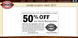 Boston Market coupons for march 2017