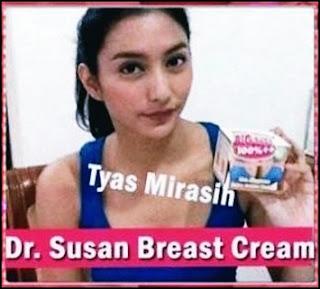 Artis tyas mirasih dengan cream payudara dr susan