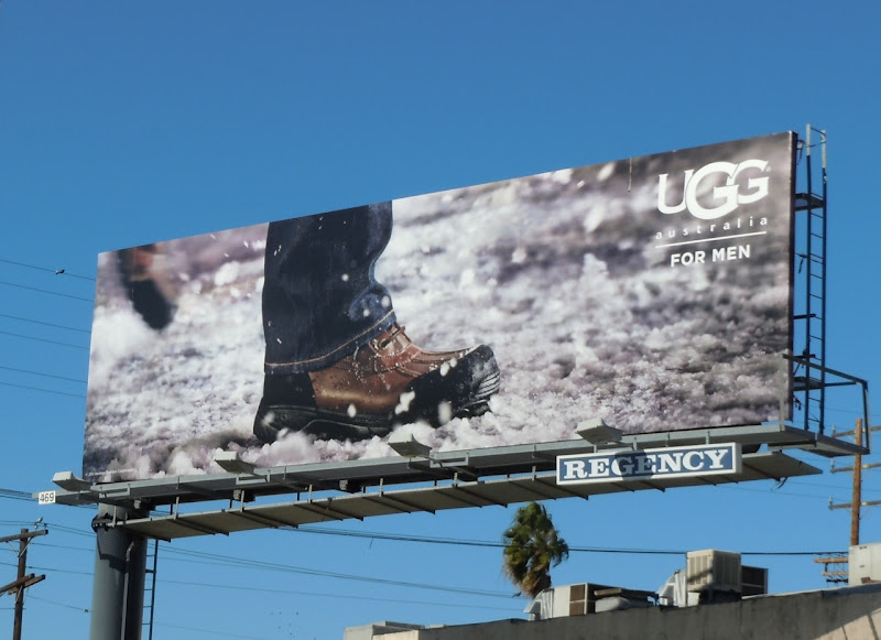 UGG Men snow boot bilboard