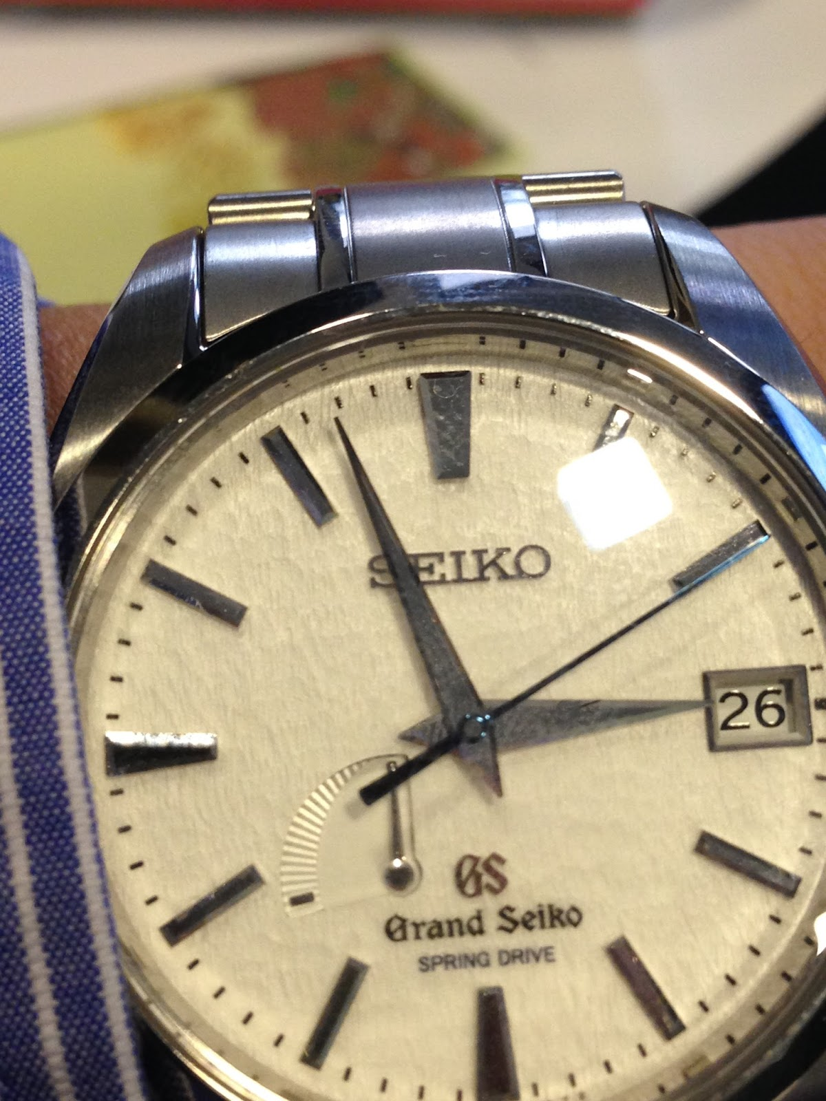 My eastern watch collection seikos grand seiko sbga011 spring the dial on the sbga011 is where the visual magic kicks in at a glance it forgivable for most people to not find it interesting altavistaventures Choice Image