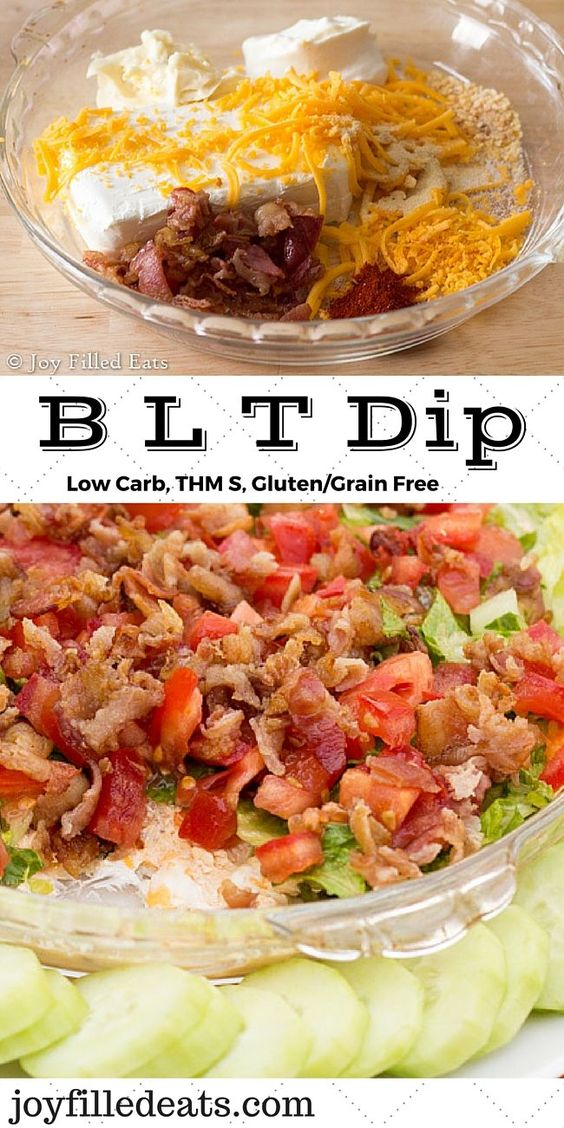BLT Dip – Low Carb, Gluten Free, THM S