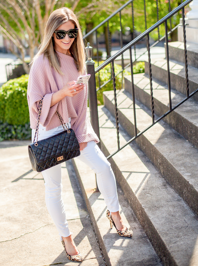 using liketoknow.it app in rose colored free people crop sweater