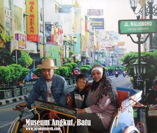 Becak di Museum Angkut, Batu